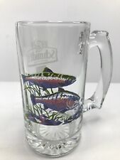 "Schmidt Beer Collectors Series III Rainbow Trout Beer Mug Stein 5.5"" Clear Glass"
