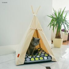 Cat Teepee bed - Green Dots, cat bed including pillow*luxury cat house*cat tent