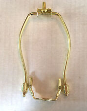 "6"" BRASS PLATED  LAMP SHADE HARP WITH SADDLE"