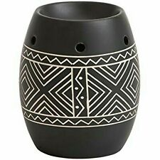 Yankee Candle Etched African Ceramic Wax Burner  with free  wax tart worth £6.99