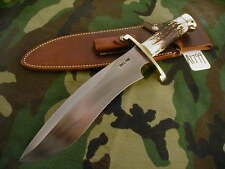 "RANDALL KNIFE KNIVES #12-11"" LG.SASQUATCH,S#802,BLH,BL.-AL.S,STAG,BCBB,WT #A1799"