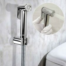 New OZ Clean Wash Toilet Seat Hand Held Shower Head Douche Bidets Spray Chrome