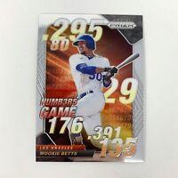 MLB 2020 Panini Prizm Baseball Card Mookie Betts Numb3r5 Game Insert Dodgers