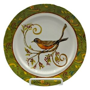 Pier 1 Imports Dinner Plate American Robin And Berries China Dinnerware Decor