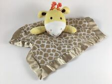 Garanimals yellow giraffe baby lovey security blanket plush tan animal print