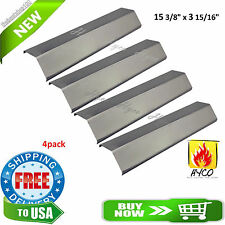 Heat Plates Porcelain Steel For Brinkmann Kenmore BBQ Gas Grill Cover Parts 4 pc