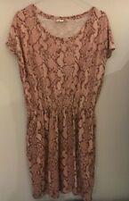 H&M Snakeskin Print Dress Size M