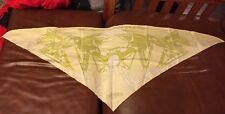 Authentic Hermes Triangle Scarf 100% Silk Caleche Elastique light yellow/green