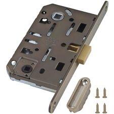 AGB Mediana Polaris Interior Door Silent Magnetic Privacy WC Lock Antique Bronze