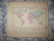 ANTIQUE 1858 WORLD RIVER BASIN HANDCOLORED MAP ASIA UNITED STATES AUSTRALIA NR