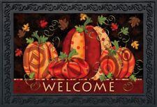 """Fall Festival Pumpkins Doormat Welcome Primitive Indoor Outdoor 18"""" x 30"""""""