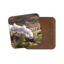 Posavasos de motor de vapor rebelión-Glenfinnan Viaducto Tren manchado Regalo #16235