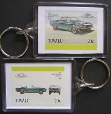 1968 SHELBY Mustang GT500 KR Car Stamp Keyring (Auto 100 Automobile)