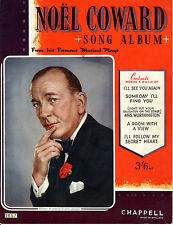 NOEL COWARD SONG ALBUM - WITH WORDS & MUSIC - CHAPPELL & Co. Ltd. (CIRCA 1935)