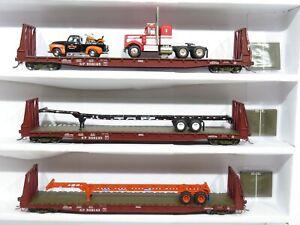 Athearn? Walthers? H0 Schwerlastwagen-Set Güterwagen 3-teilig S.P. mit Ladung