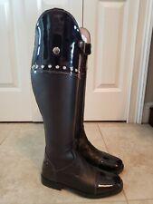 Custom Patent Leather Rhinestones Dressage Dress Boots Size 8 SLIM