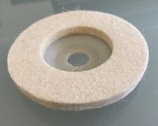 "Uxcell 3.75"" Wool Felt Polishing Wheel Abrasive Buffing Pad Disc Rotary 8mm 5/16"