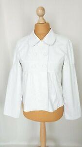 """Jolie veste femme """"Camïeu"""" toile coton rayé Taille L FR42 US10 UK14 EUR40"""