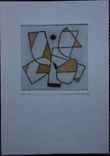 Jorj MORIN - Gravure pointe sèche signée numérotée aquarelle L'oeil égaré 1982