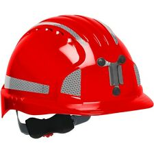 JSP Mining Hard Hat Cap Style with 6 Point Ratchet Suspension, Red