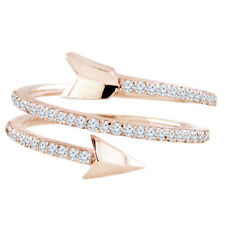 14k Rose Gold 0.43ctw Diamond Arrow Ring Size 6 Handmade in USA NEW with TAGS