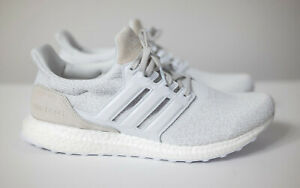 Size 12 - adidas UltraBoost DNA Cloud White Leather Grey Suede
