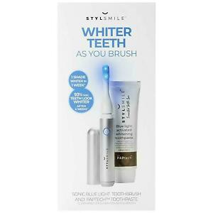 Stylsmile Whiter Teeth Toothbrush Kit Toothpaste Sonic Blue Light Rechargeable