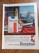 1960 Tareyton Cigarette Ad Deep Sea Fishing Theme