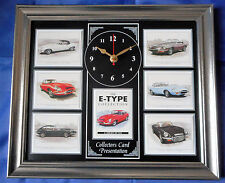 The E-Type Jaguar Model Stunning Collector Cards Wall Clock