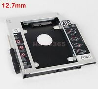 2nd Hard Drive HDD SSD Caddy Adapter for TOSHIBA L505-139 swap uj890as DVD ODD