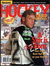 Brett Hull Signed Dallas Stars Nov 98 Beckett Cup Year Gem Mint Hofer 741 Goals!