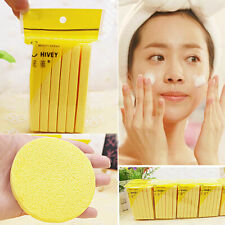 Cleansing Cellulose Face Wash Makeup Buffer Remover Round Facial Sponge. M0P6