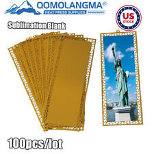 Us Stock Gold 100pcs Metal Bookmark With Dents Sublimation Blank Diy