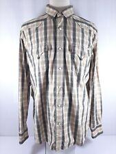 Lucky Brand Button Down Long Sleeve Men Shirt Size XXL - Snap Buttons