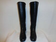 BLONDO BLACK WATERPROOF LEATHER ZIPPER BOOTS. SIZE W 7.5