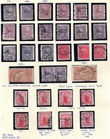 New Zealand 1901-02 collection/varieties Re-entries etc. on album page WS21594L