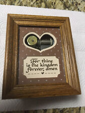 Solid Oak Wood Music Box Plays For Thine Is The Kingdom Forever Amen Really Nice