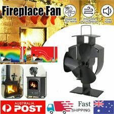 3 Blades Fireplace Fan Thermal Fire Heater Circulating Eco Stove Fan Household Q