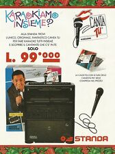 X2886 Canta Tu Karaoke - Fiorello - Standa - Pubblicità 1994 - Advertising