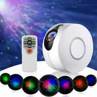 360° Colorful LED Galaxy Starry Night Light Projector Ocean Wave Lamp + Remote