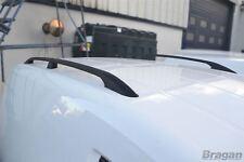 To Fit 2010+ Fiat Doblo LWB Black Aluminium Roof Rails Rack Van Bars