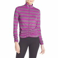 Calvin Klein Performance Womens Ruched Active Fitness Full Zip Jacket Size XL