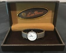 Two Tone Lucien Piccard Men's Dress Watch W/ Box MX1006WI Needs Battery