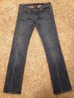 Ed Hardy By Christian Audigier Womens Size 27 Jeans Distressed Stright Leg