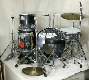 OLYMPIC By PREMIER Drum Kit Remo Heads Flat's Cymbal Custom Space Design - PDY