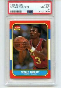 Sedale Threatt 1986-87 Fleer Basketball # 112 PSA 8 Nm-Mt