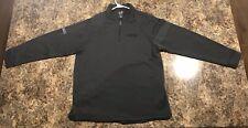 Black Bnsf Adidas Golf Climalite Mens Long Sleeve 1/4 Zip Size Large