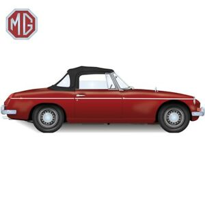 MGB Convertible Top With 3 Plastic Windows 1971-1980