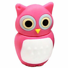 Cute pink owl bird animal kids 8GB USB 2.0 flash drive memory stick