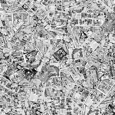 vintage b&w comic book sticker bomb / wrap sheet 1300mmx500mm matt laminated
